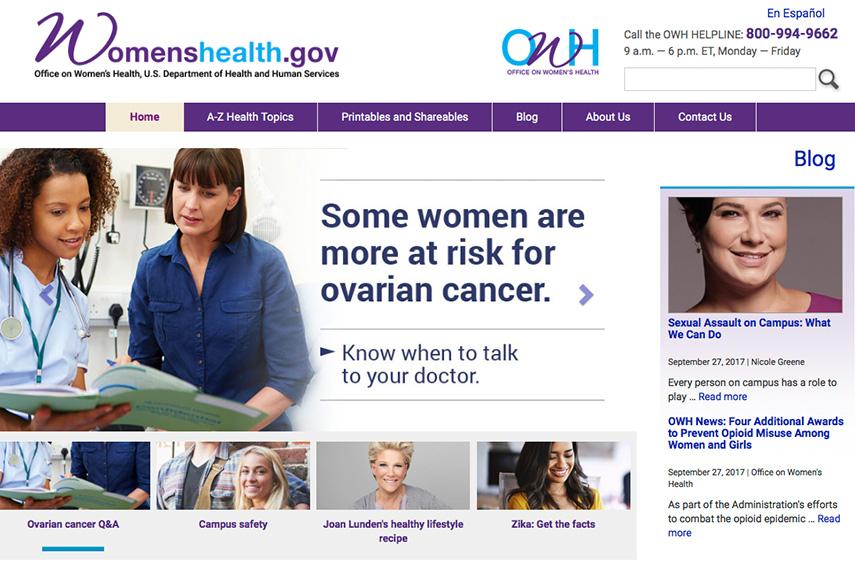 womens health gov website